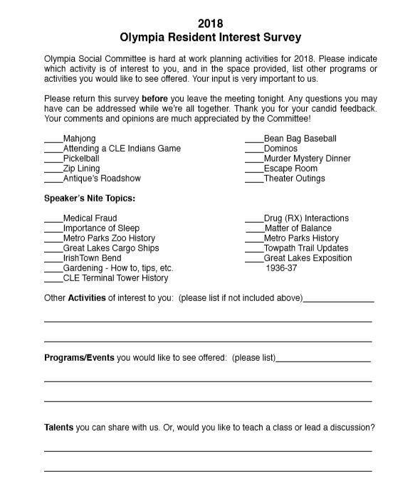 Olympia HOA Notices